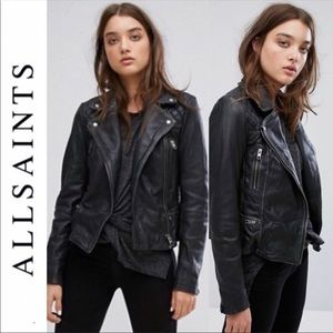 ✨New✨ AllSaints Leather Cargo Biker Jacket Size: 2